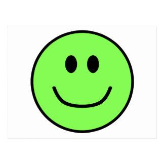 Smiling Face Postcard Green 0002