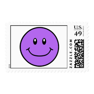 Smiling Face Stamps Purple 0001