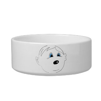 Smiling face with blue eyes bowl