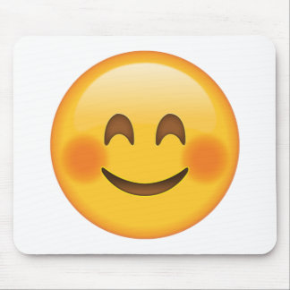 Smiling Face  with Blushed Cheeks - Emoji Mouse Pad