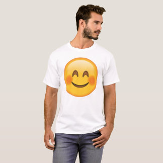 Smiling Face  with Blushed Cheeks - Emoji T-Shirt