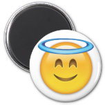 Smiling Face With Halo Emoji 2 Inch Round Magnet