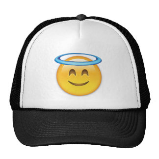 Smiling Face With Halo Emoji Trucker Hat