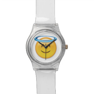 Smiling Face With Halo Emoji Wristwatch