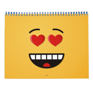 Smiling Face with Heart-Shaped Eyes Calendar