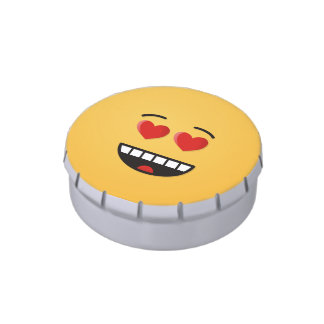 Smiling Face with Heart-Shaped Eyes Candy Tins