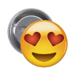 Smiling Face With Heart Shaped Eyes Emoij Buttons