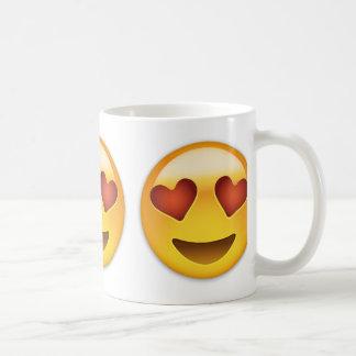 Smiling Face With Heart Shaped Eyes Emoji Classic White Coffee Mug