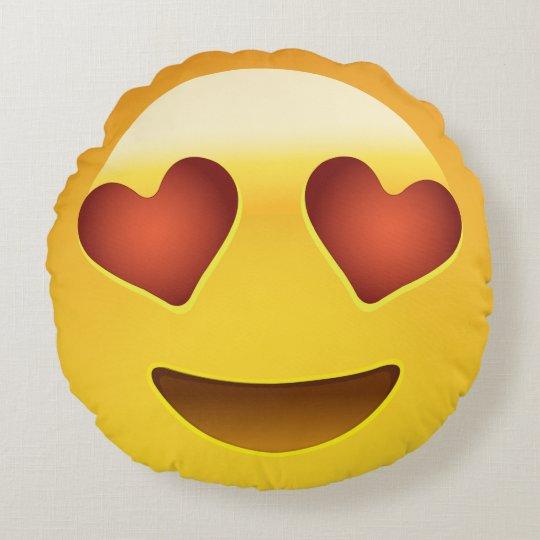 Emoji Keychain Yellow Heart Shapes Eyes