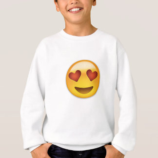 Smiling Face With Heart Shaped Eyes Emoji Sweatshirt