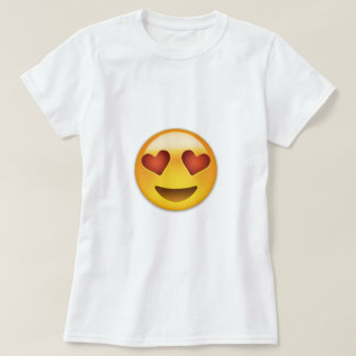 Smiling Face With Heart Shaped Eyes Emoji Tee Shirt