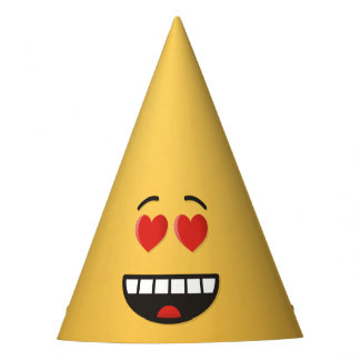 Smiling Face with Heart-Shaped Eyes Party Hat