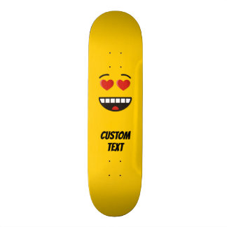 Smiling Face with Heart-Shaped Eyes Skateboard