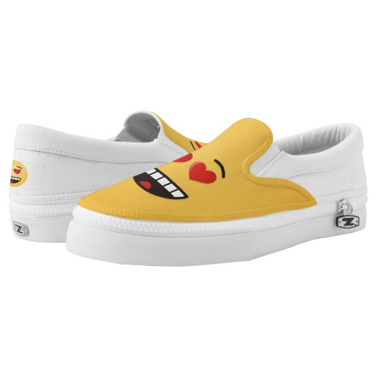b7efdf41de7b Smiling Face with Heart-Shaped Eyes Slip-On Sneakers