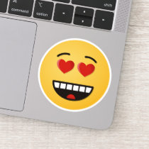 Smiling Face with Heart-Shaped Eyes Sticker