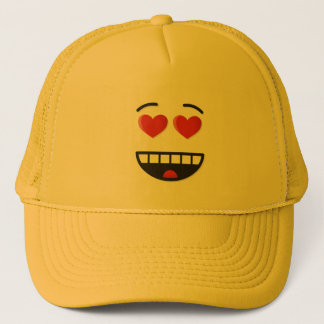 Smiling Face with Heart-Shaped Eyes Trucker Hat