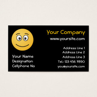 Smiling Face with Open Eyes Business Card