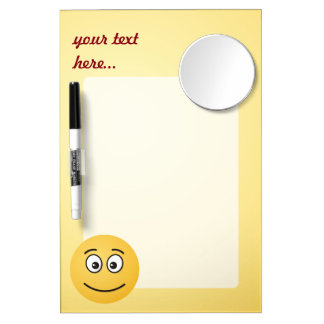 Smiling Face with Open Eyes Dry Erase Board With Mirror