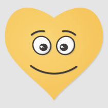 Smiling Face with Open Eyes Heart Sticker