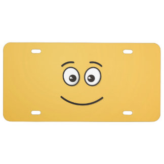 Smiling Face with Open Eyes License Plate
