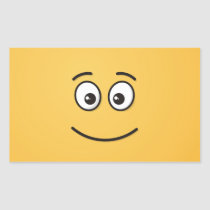 Smiling Face with Open Eyes Rectangular Sticker