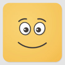 Smiling Face with Open Eyes Square Sticker