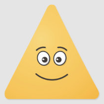 Smiling Face with Open Eyes Triangle Sticker