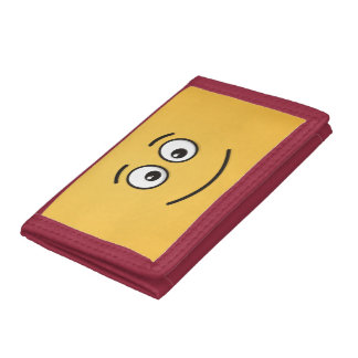 Smiling Face with Open Eyes Trifold Wallets