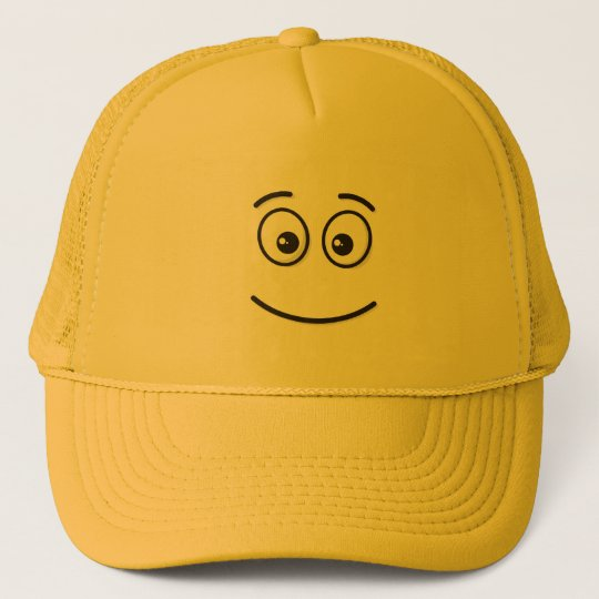 3d34991f22c Smiling Face with Open Eyes Trucker Hat