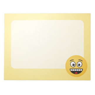 Smiling Face with Open Mouth Notepad