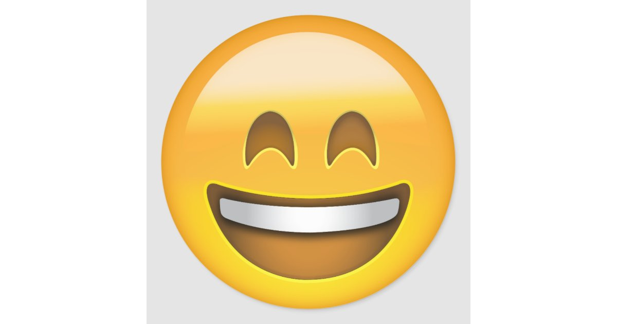 smiling face with open mouth amp smiling eyes emoji classic