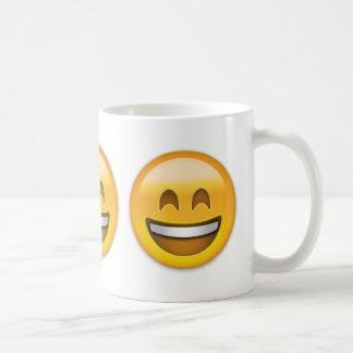 Smiling Face With Open Mouth & Smiling Eyes Emoji Coffee Mug