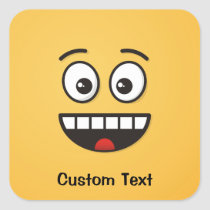 Smiling Face with Open Mouth Square Sticker