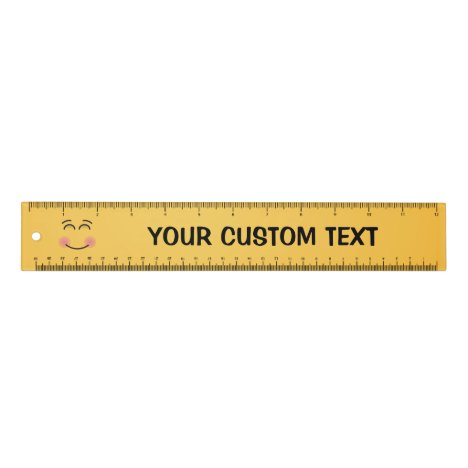 Smiling Face with Smiling Eyes 12 inch Ruler