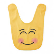 Smiling Face with Smiling Eyes Baby Bib