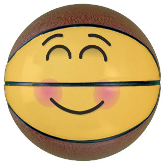 Smiling Face with Smiling Eyes Basketball