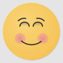 Smiling Face with Smiling Eyes Classic Round Sticker