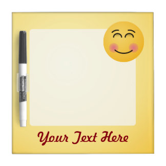 Smiling Face with Smiling Eyes Dry-Erase Board
