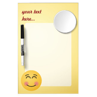 Smiling Face with Smiling Eyes Dry Erase Board With Mirror