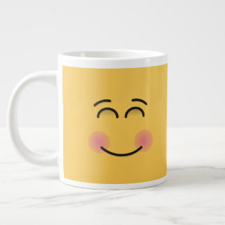 Smiling Face with Smiling Eyes Giant Coffee Mug
