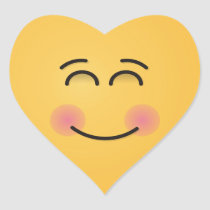Smiling Face with Smiling Eyes Heart Sticker