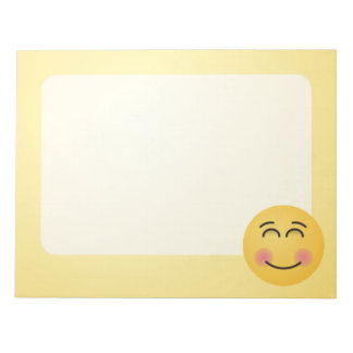 Smiling Face with Smiling Eyes Notepad