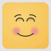 Smiling Face with Smiling Eyes Square Sticker