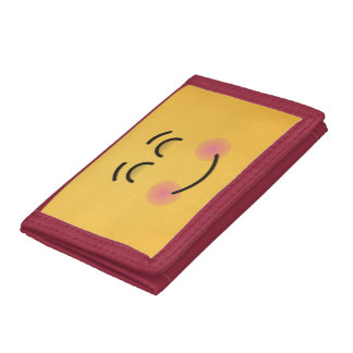 Smiling Face with Smiling Eyes Tri-fold Wallets