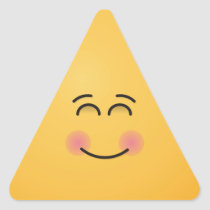 Smiling Face with Smiling Eyes Triangle Sticker