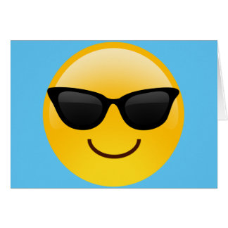 Smiling Face With Sunglasses Cool Emoji Card