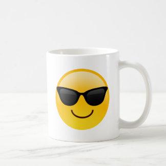 Smiling Face With Sunglasses Cool Emoji Coffee Mug
