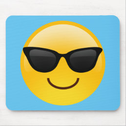 Smiling Face With Sunglasses Cool Emoji Mouse Pad
