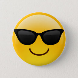 Smiling Face With Sunglasses Cool Emoji Pinback Button