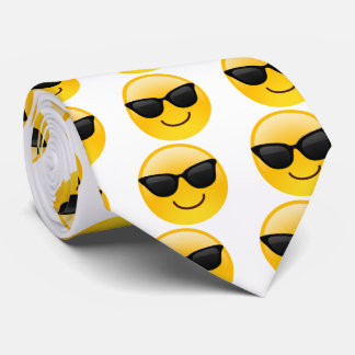 Smiling Face With Sunglasses Cool Emoji tie